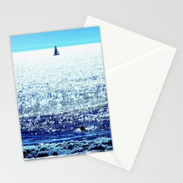 Sailboat and Swimmer Stationery Cards