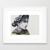 dragonfly Framed Art Prints featuring Dragonfly by agnes-cecile