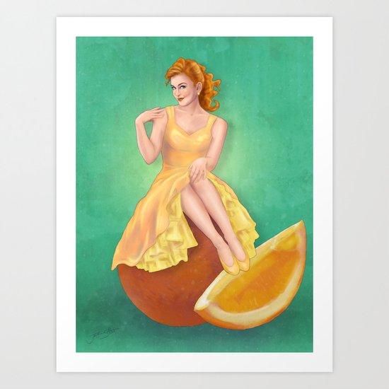 Retro Citrus Art Print