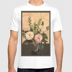 Rose Painting MEDIUM White Mens Fitted Tee