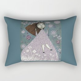 Clouds in June, Make them Bloom Rectangular Pillow