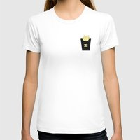 french fries T-shirts featuring French fries by flowerstyle