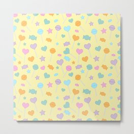 Candy Mix - Yellow Metal Print