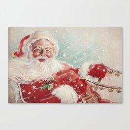 Cute vintage Santa Claus Canvas Print