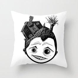 house head Throw Pillow