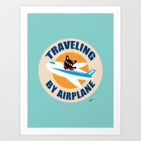 airplane Art Prints featuring Airplane by BATKEI