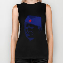 Tito Josip Broz Yugoslavia  -  portrait red star  Biker Tank
