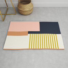 Sol Abstract Geometric Print in Multi Rug