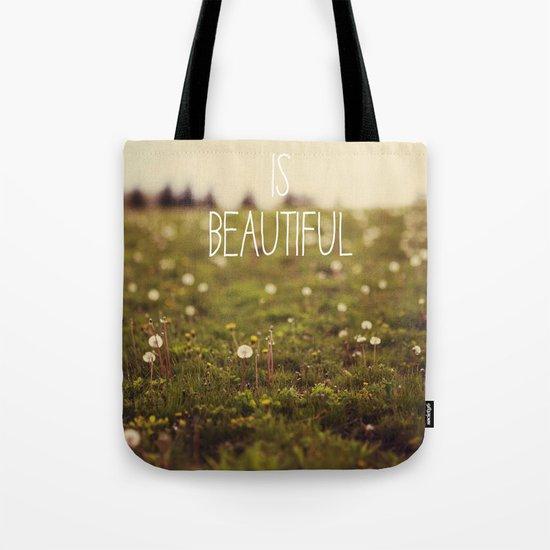 Life is Beautiful (Dandelion) Tote Bag