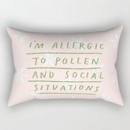 Allergic To Pollen Rectangular Pillow