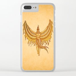 Isis, Goddess Egypt with wings of the legendary bird Phoenix Clear iPhone Case