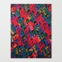 knit Canvas Prints featuring Knit by kirstenariel