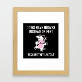 Cows Have Hooves Framed Art Print