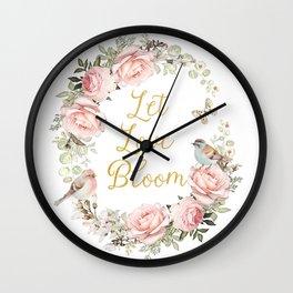 Let love bloom Wall Clock