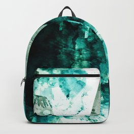 emerald & moss green Backpack