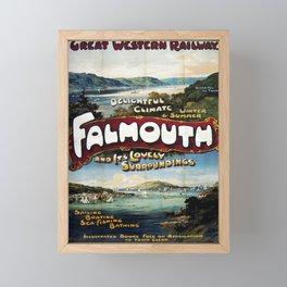 retro Falmouth Framed Mini Art Print
