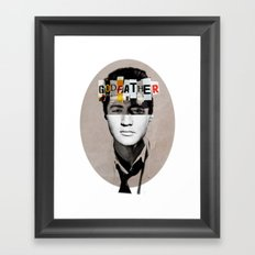 Godfather Mix 2 white Framed Art Print
