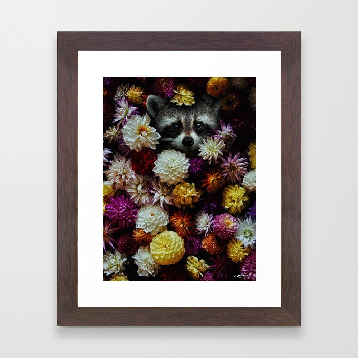 bloom with grace. Framed Art Print