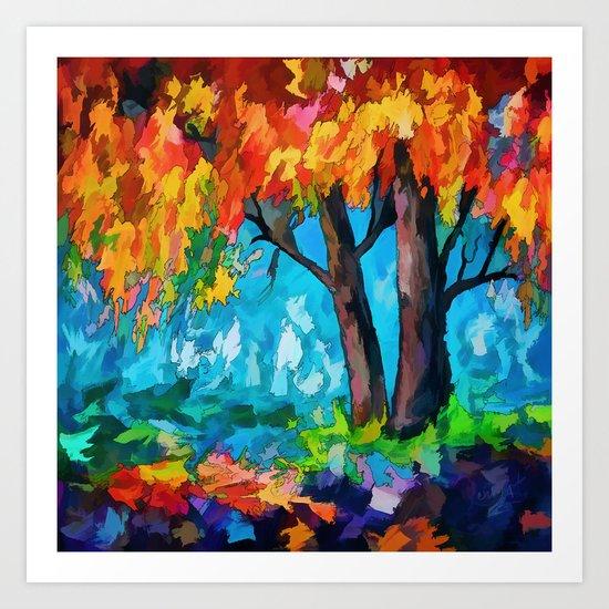 SUNRISE TREE Art Print
