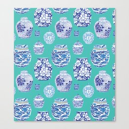 Chinoiserie Ginger Jar Collection No.5 Canvas Print