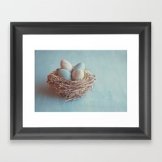 Spring Nest Framed Art Print