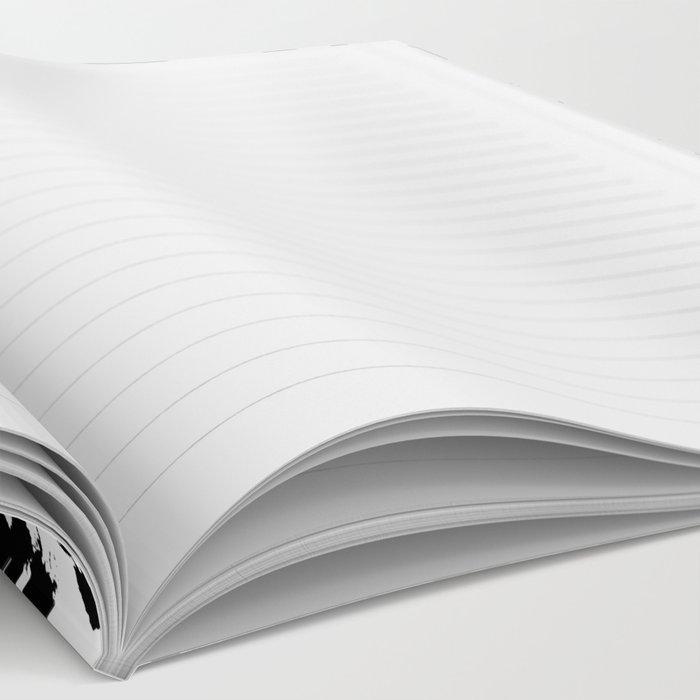 Nadia - Black and White, Animal Print, Dalmatian Spot, Spots, Dots, BW Notebook