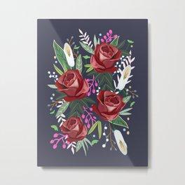 Dreaming Rose, flower, rose art print, floral, blossom Metal Print