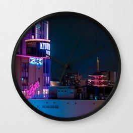 Asakusa Night Wall Clock