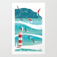 Illustre Conero - Waves Art Print