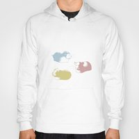 pigs Hoodies featuring Guinea Pigs by Jamie O'Reilly