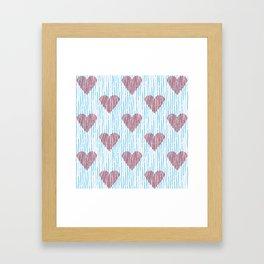 It´s raining love Framed Art Print