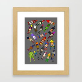 Butt of Superhero Villian - Dark Framed Art Print