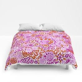 Pink + Orange = YES Comforters