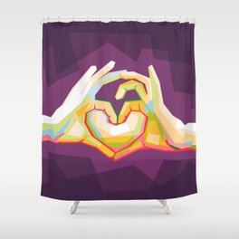 love is colorful Shower Curtain