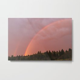 Bass Coast Rainbow Metal Print