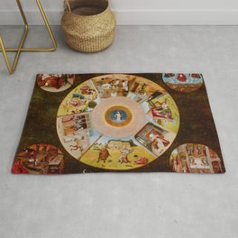 """Hieronymus Bosch """"The Seven Deadly Sins and the Four Last Things"""" Rug"""
