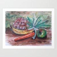 Food on the table Art Print