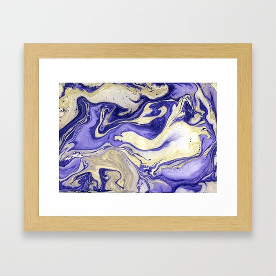 Painting marbled violet and golden by mmartabc