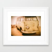 van Framed Art Prints featuring Van by Littlekoala