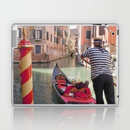 On the Canals in Venice Italy watching the Gondoliers Laptop & iPad Skin