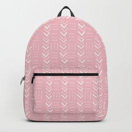 Pink and white geometric Backpack