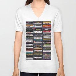 Old 80's & 90's Hip Hop Tapes Unisex V-Ausschnitt