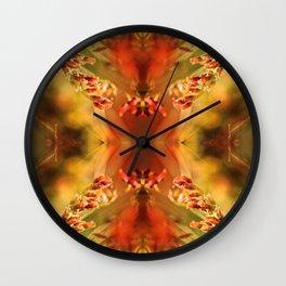 TANGERINE SPANGLES no1 Wall Clock