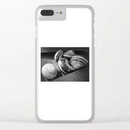 Photography black and white snail Clear iPhone Case
