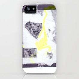 scan of yellow highlighter on digital print  iPhone Case