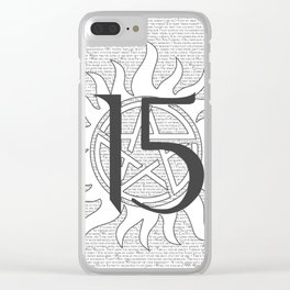 SPN Print (White) Clear iPhone Case