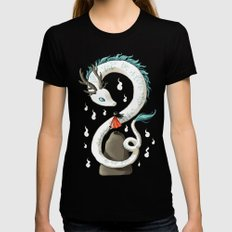 Dragon Spirit Womens Fitted Tee Black SMALL