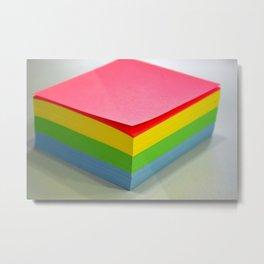 spectrum color block Metal Print