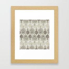 lotus diamond linen Framed Art Print
