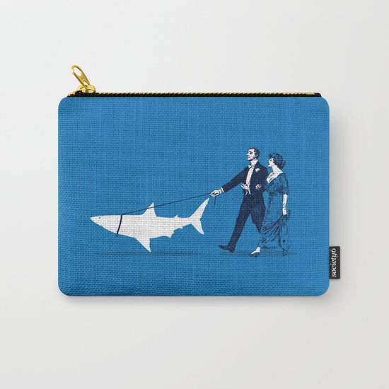 Walking the Shark Carry-All Pouch